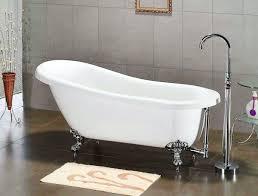 cambridge 67 inch acrylic slipper style clawfoot bathtub
