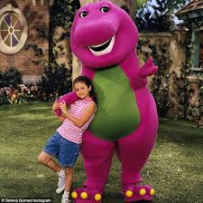 Barney And The Backyard Gang Cast Selena Gomez Shares Adorable Throwback Snap With Barney The