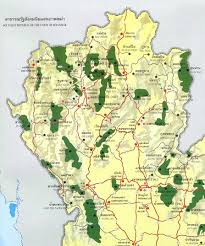 Map Of Thailand Wildlife Thailand Map Of Northern Thailand National Parks