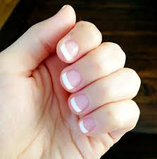shellac french manicure it u0027s nice to see a pic with short nail