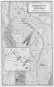 Map Of Wilmington Nc Battle Of Forks Road History