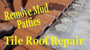 Concrete Tile Roof Repair Removing Mud Patties Concrete Tile Roofing Repair