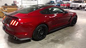 Black Mustang Stripes Ruby Red Black Roof And Stripes