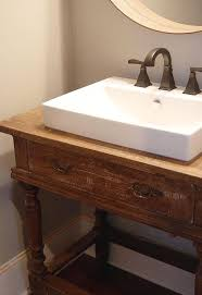 vanity bathroom ideas reclaimed wood table to vanity hometalk