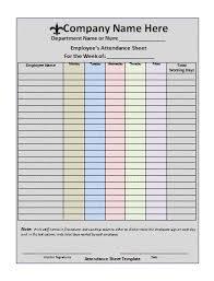Weekly Attendance Sheet Template Office Attendance Sheet Template