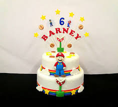 mario birthday cake package mario birthday cake topper and cake decoration