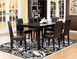 nicole 7 piece dining package with brown chairs nicolepk7 the