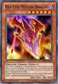 red eyes meteor dragon yugioh ocg by yeidenex on deviantart