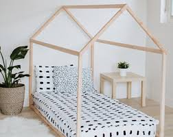 Twin Size Bed For Toddler Montessori Bed Etsy