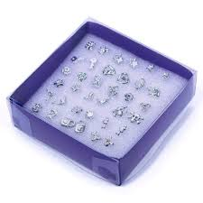 plastic stud earrings 20 pairs gems plastic stud earrings beauty