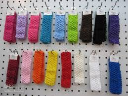 stretchy headbands fashion infant toddler 1 5 inch crochet headband elastic headbands