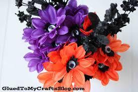 spooky halloween eyeball flowers glued to my crafts