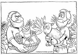 cain and abel coloring pages paginone biz