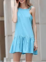light blue tank dress heart shaped hollow tank dress light blue summer dresses m zaful