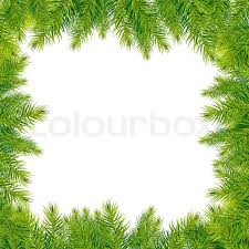tree branches border isolated on white background vector
