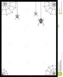 halloween border with spiders u2013 fun for halloween