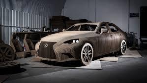 lexus sedan is functional lexus origami car crafted from 1700 cardboard pieces