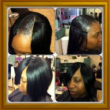 bump hair weave bob styles full head quick weave w invisible part designz by luwanna