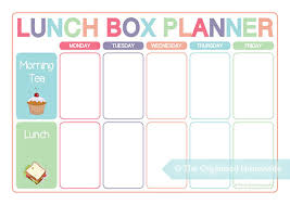 lunch box planner template planning food for lunch boxes is just as important as planning dinners