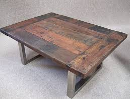 reclaimed timber coffee table nice neat recycled wood and stainless steel coffee table reclaimed