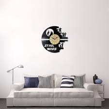 creative clock cd vinyl record wall clock film star wars theme