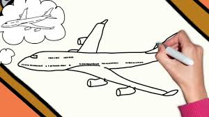 simple drawing of airplane how to draw a plane airplane boeing