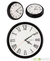 Silent Wall Clock Decomates Non Ticking Silent Wall Clock With Roman Numerals