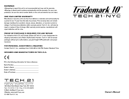 tech 21 trademark 10 user manual 8 pages