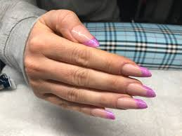 acrylic nail extensions russian almond shape permanent french
