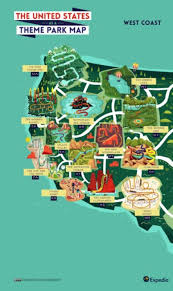 map of usa west coast outdoors adventure a theme park map of the usa