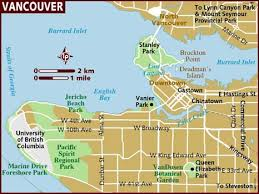 map usa lonely planet map of vancouver