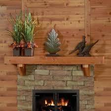 fireplace mantel shelves rustic western red cedar mantel shelf