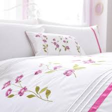 Thomas Single Duvet Cover Charlotte Thomas Arabella Floral Embroidery Polycotton Percale