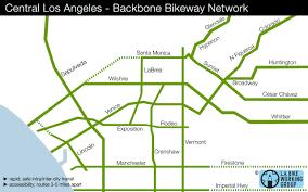 Los Angeles Freeway Map by L A Activists Float Idea Of U0027freeway U0027 System For Bikes L A Now