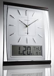 silent wall clocks kg homewares silent digital wall clock white