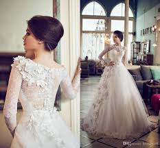custom made wedding dress discount 2015 lace wedding dresses with sleeves floor length