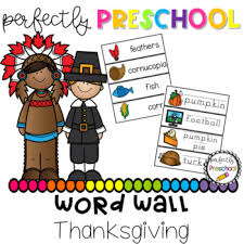 thanksgiving word wall by perfectly preschool teachers pay teachers