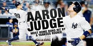 Aaron Judge Breaks Joe Dimaggio S Yankees Rookie Home Run Record - aaron judge breaks yankees 81 year old rookie home run record