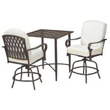 Bar Height Bistro Table Bistro Table Sets Modern Patio Dining Furniture The Home Depot