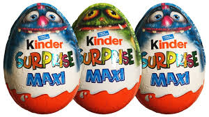 Scary Halloween Monsters by 3 Surprise Eggs Kinder Surprise Maxi Scary Halloween Special Big