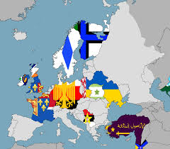 Europe Flag Map by