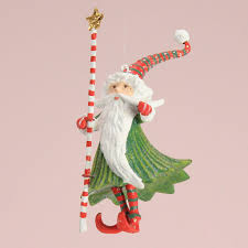 patience brewster mini santa wizard ornament wooden duck shoppe