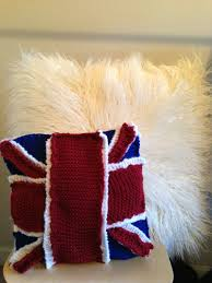 British Flag Pillow How U0027d You Make That Knitted British Flag Pillow