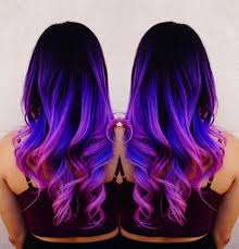 weave hairstyles with purple tips galaxy hair style and how to recreate it at home jiji ng blog