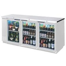 Glass Refrigerator Doors beverage air bb72gsy 1 s 72in sliding glass door back bar
