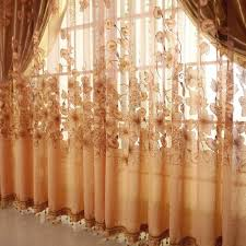 European Lace Curtains Floral Voile Curtain Window Valance European Lace Curtains