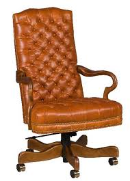 Leather Office Desk Chairs High Back Tufted Leather Office Chair Leandrocortese Info