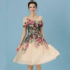 aliexpress com buy 2016 women flower print dress short sleeve