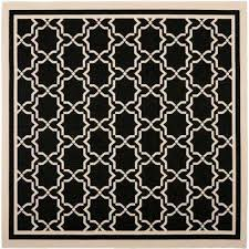 Black And Beige Rug Square 7 U0027 And Larger Black Outdoor Rugs Rugs The Home Depot