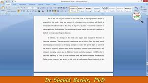 how to write significance of research by dr shahid bashir phd